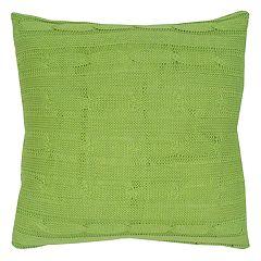 Rizzy Home Cable Knit Buttoned Back II Throw Pillow