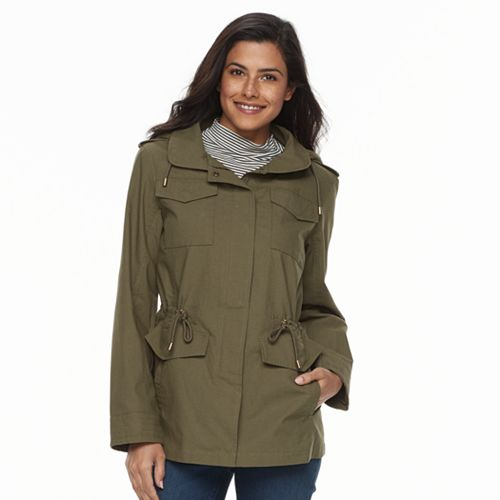 Women's d.e.t.a.i.l.s Hooded Cotton Anorak Jacket