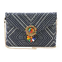 madden NYC Erin Woven Clutch