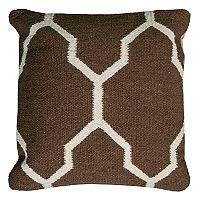 Rizzy Home Moroccan Tile Motif Woven Throw Pillow