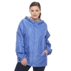 Plus Size d.e.t.a.i.l.s Hooded Reversible Jacket