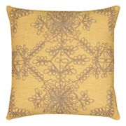 Rizzy Home Medallion Applique Jute Embroidered Throw Pillow