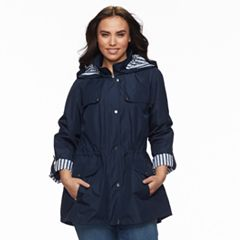 Plus Size d.e.t.a.i.l.s Hooded Anorak Jacket