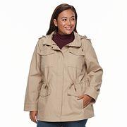 Plus Size d.e.t.a.i.l.s Hooded Cotton Anorak Jacket