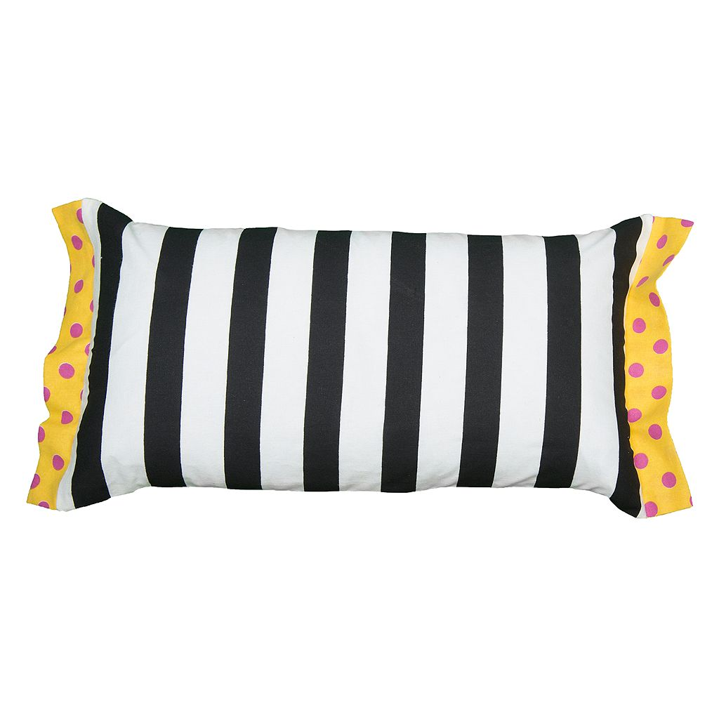 Rizzy Home Rachel Kate Stripe Print Bolster Throw Pillow