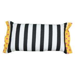 Rizzy Home Rachel Kate Stripe Print Bolster Throw Pillow