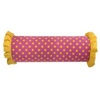 Rizzy Home Rachel Kate Polka Dots Print Bolster Throw Pillow