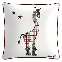 Rizzy Home Rachel Kate Punk Rock Giraffe Throw Pillow