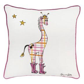Rizzy Home Rachel Kate Punk Rock Giraffe Throw Pillow