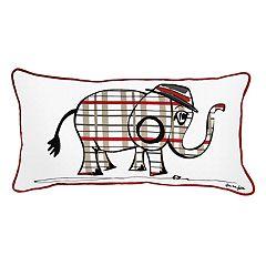 Rizzy Home Rachel Kate Punk Rock Elephant Oblong Throw Pillow