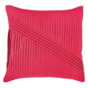 Rizzy Home Solid Pleat Corded Gathering Throw Pillow