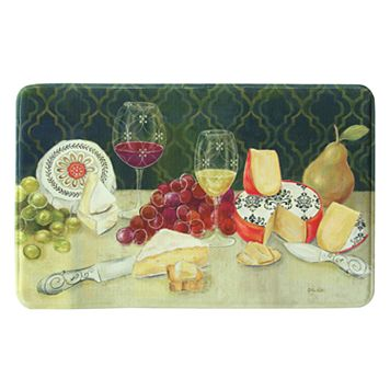 Bacova Wine With Cheese Memory Foam Kitchen Rug