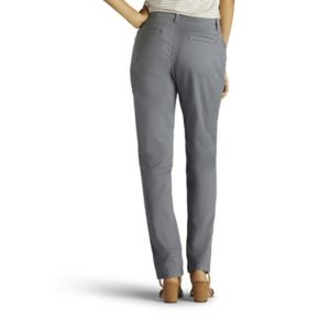 Petite Lee Straight-Leg Twill Pants