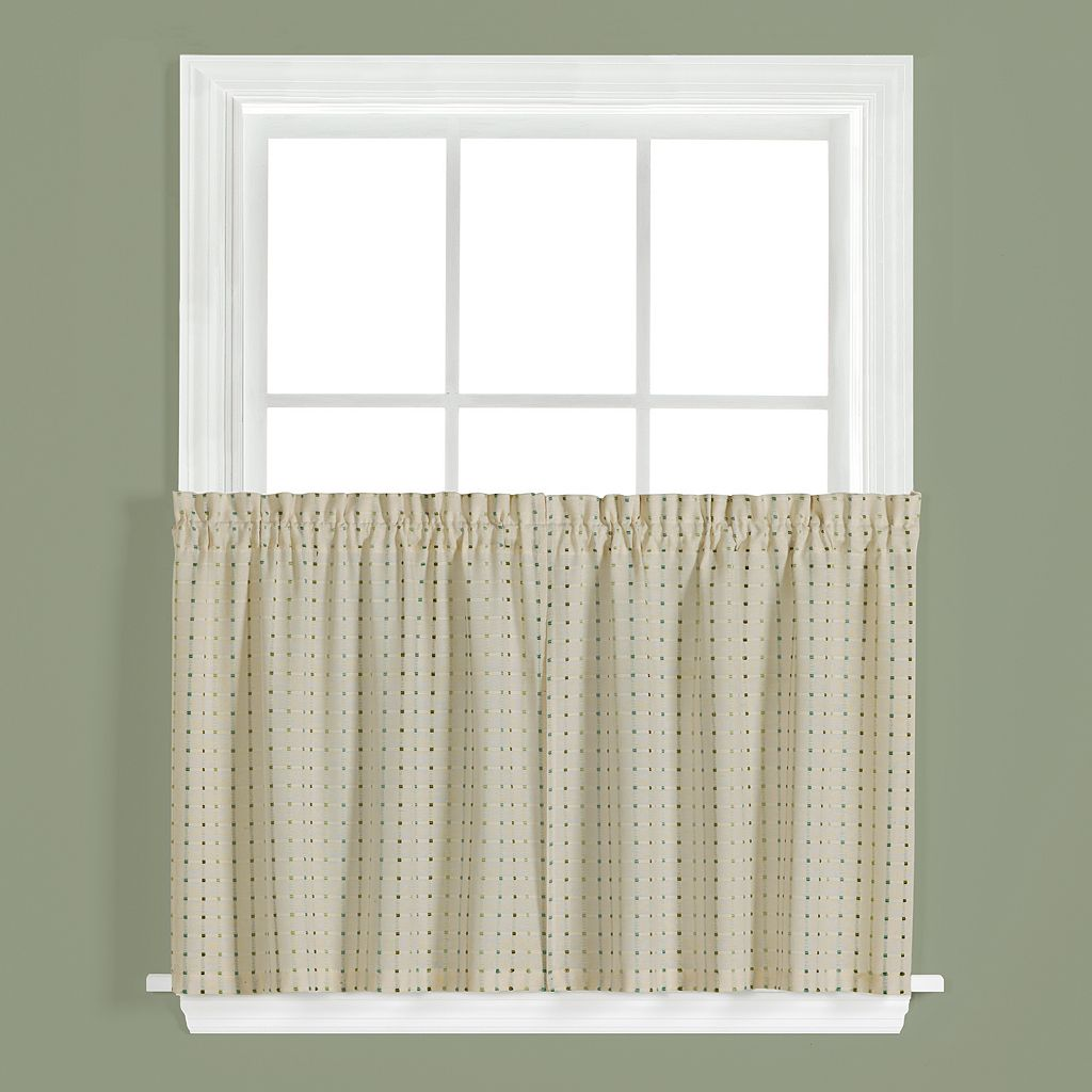 Saturday Knight, Ltd. Hopscotch Tier Kitchen Window Curtain Set