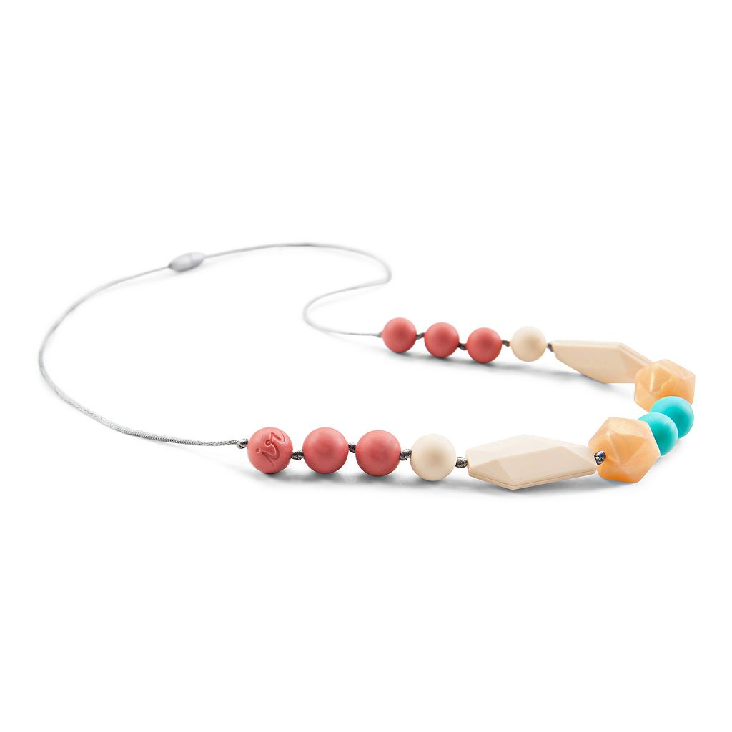 Itzy Ritzy Teething Happens Chewable Mom Jewelry Beaded Necklace