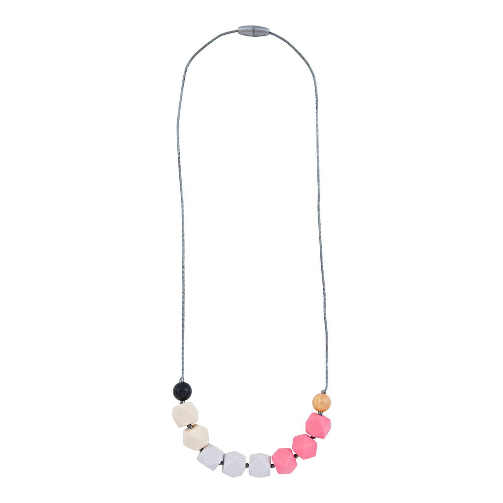 Itzy Ritzy Teething Happens Chewable Mom Jewelry Necklace