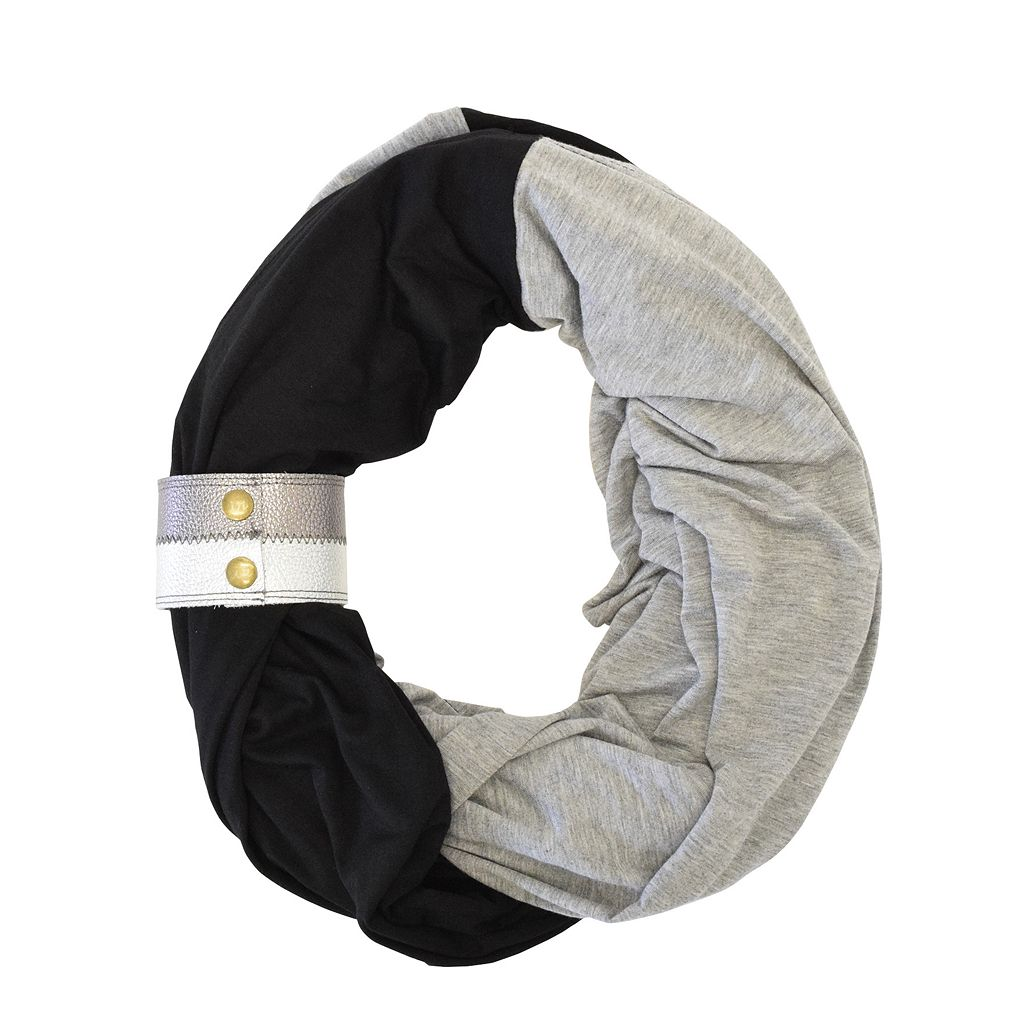Itzy Ritzy Nursing Happens Infinity Nursing Scarf with Leather Cuff