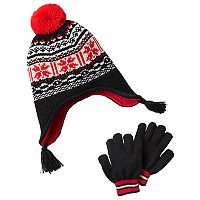 Boys Carter's Knit Trapper Hat & Mittens Set