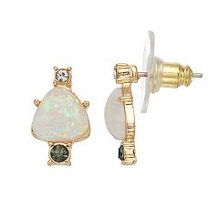 LC Lauren Conrad Simulated Opal Triangle Nickel Free Drop Earrings