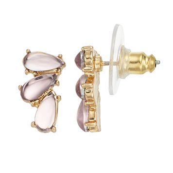 LC Lauren Conrad Teardrop Cluster Nickel Free Drop Earrings
