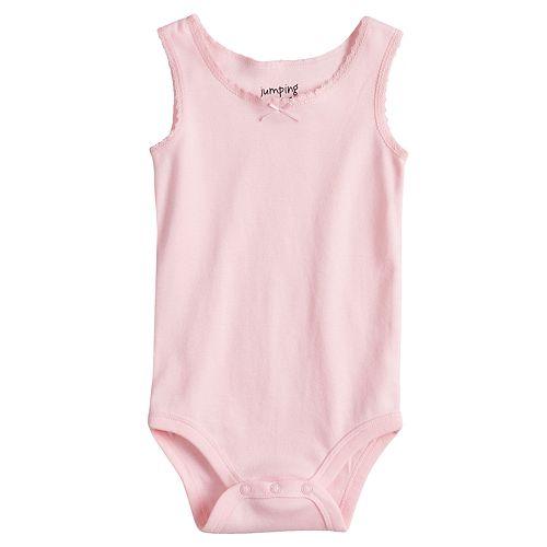 Baby Girl Jumping Beans® Lace-Trim Sleeveless Bodysuit