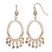 LC Lauren Conrad Beaded Oval Nickel Free Chandelier Earrings