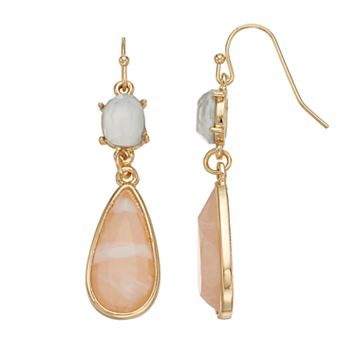 LC Lauren Conrad Teardrop Nickel Free Double Drop Earrings