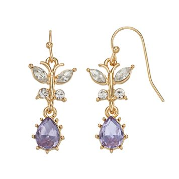 LC Lauren Conrad Butterfly Nickel Free Teardrop Earrings