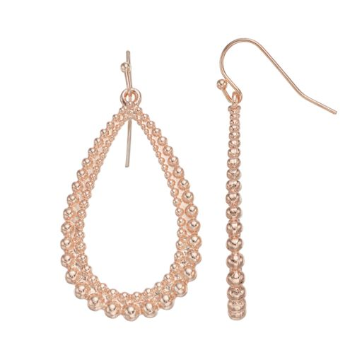 LC Lauren Conrad Textured Nickel Free Open Teardrop Earrings