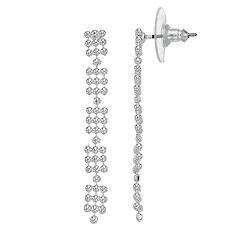 LC Lauren Conrad Beaded Mesh Nickel Free Linear Earrings