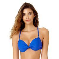 Juniors' California Sunshine Crisscross Bust Enhancer Push-Up Bikini Top