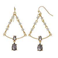LC Lauren Conrad Beaded Triangle Nickel Free Chandelier Earrings