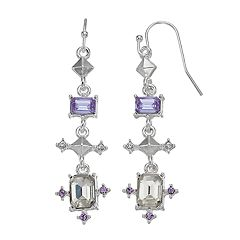 LC Lauren Conrad Geometric Link Nickel Free Linear Earrings