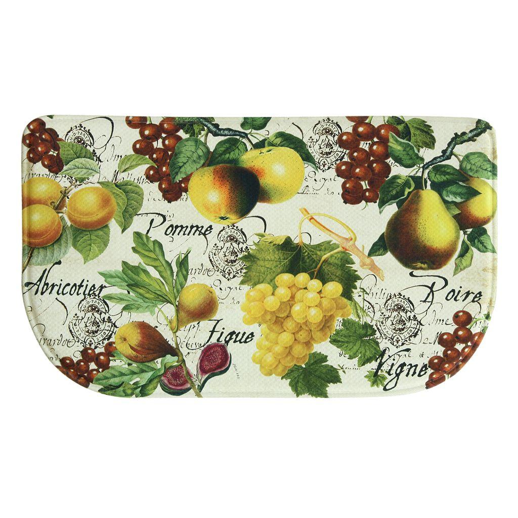 Bacova Botanical Fruit Memory Foam Kitchen Rug