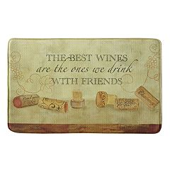 Bacova Wine With Friends Memory Foam Kitchen Rug