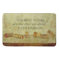 Bacova Wine With Friends Memory Foam Kitchen Rug