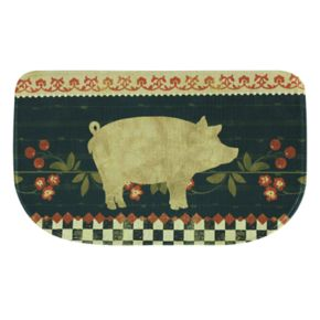 "Bacova Retro Pig Memory Foam Kitchen Rug - 18"" x 30"""