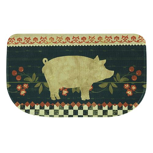 Bacova Retro Pig Memory Foam Kitchen Rug - 18\