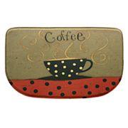 Bacova Coffee Cup Memory Foam Kitchen Rug - 18' x 30'