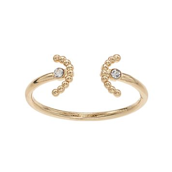 LC Lauren Conrad Semi-Circle Open Ring