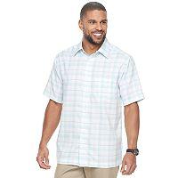 Men's Haggar Classic-Fit Plaid Easy-Care Button-Down Shirt