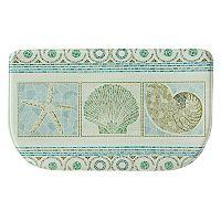 Bacova Seashell Mosaic Memory Foam Kitchen Rug - 18