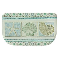 Bacova Seashell Mosaic Memory Foam Kitchen Rug - 18' x 30'