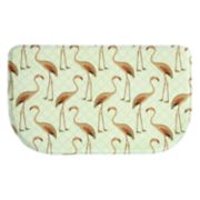 "Bacova Floridian Flamingo Memory Foam Kitchen Rug - 18"" x 30"""