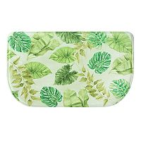 Bacova Tropical Leaves Memory Foam Kitchen Rug - 18