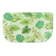Bacova Tropical Leaves Memory Foam Kitchen Rug - 18' x 30'