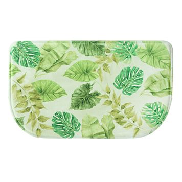 Bacova Tropical Leaves Memory Foam Kitchen Rug - 18