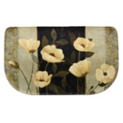 "Bacova Midnight Poppies Memory Foam Kitchen Rug - 18"" x 30"""