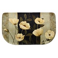 Bacova Midnight Poppies Memory Foam Kitchen Rug - 18