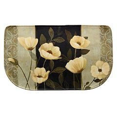 Bacova Midnight Poppies Memory Foam Kitchen Rug - 18' x 30'